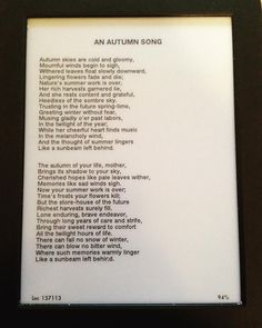 An Autumn Song by Louisa May Alcott. Perfect poem for this time of year. #onepoemaday #LMABibliography