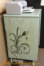 refurbished cabinet, painted furniture