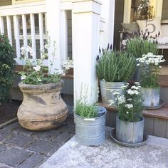 Little Farmstead: A Galvanized Grouping {Farmhouse Porch Style}
