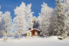 Red cottage in sunny winter landscape by Fredrik Sundvall on 500px