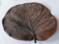 Stitched Sea Grape Leaf
