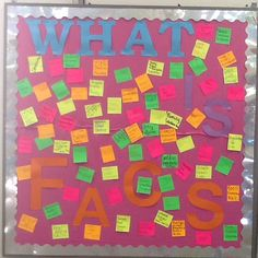 What is Family & Consumer Sciences? - Intro activity bulletin board