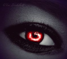 Red halloween #contact lenses