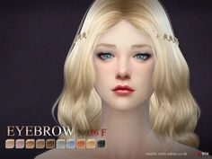 The Sims Resource: Eyebrows26 F by S-Club • Sims 4 Downloads