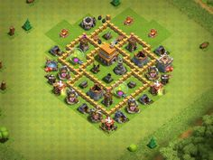 My base layout in Clash of Clans with a Level 5 Town Hall Clash Of Clans Levels, Clash Of Clans Cheat, Clash Of Clans Game, Clash Clans, Town Hall 4, Game Of Thrones 4, Clash Games, Th 5, Free Android Games