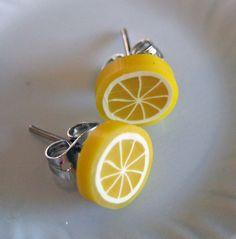 Lemon earrings.