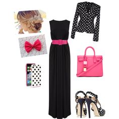 A fashion look from February 2015 featuring T-Bags Los Angeles gowns, Daniele Alessandrini blazers and Oscar de la Renta sandals. Browse and shop related looks.