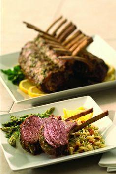 Rack of Lamb Recipes. Grilled Rack of Lamb with Fresh Lemon and Herbs Recipe. Herb Recipes, Kosher Recipes, Kosher Food, Lamb Dinner, Grill Rack, Rack Of Lamb, Lemon Herb, Food Categories, Delish