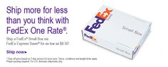 FedEx One Rate shipping