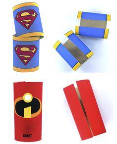 diy, brazaletes de super héroe