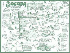 Map of Sagada, Philippines