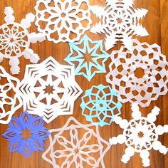 Learn how to cut paper snowflakes with this easy video tutorial and free templates. Easy DIY Christmas holiday kids craft and home decor.