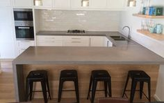 Makers Lane :: Kitchen concrete benchtop Custom Made, Bespoke made in Australia.