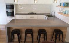 Makers Lane :: Kitchen concrete benchtop Custom Made, Bespoke made in Australia.