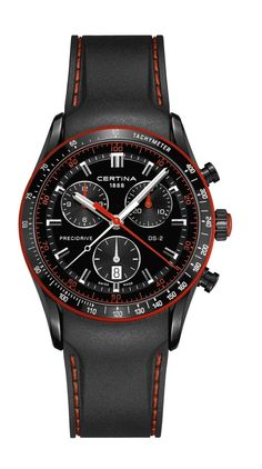 Certina DS 2 Chrono Sec Description: Certina DS 2 Chrono Sec Price: Meer informatie G Shock, Rolex, Bmw Cafe Racer, Cool Watches, Red Watches, Chronograph, Accessories, Ds, Quartz Watches