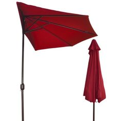 """Provide you deck or patio with shade and style with this half umbrella. * Pole: 1.5"""" (38mm) aluminium pole, with golden coffee powder coated finish for durability and long lasting beauty;Lightweight and sturdy construction * Fabric: 160g/m2 polyester, UV Protective, crafted with water-proof and fade-resistant fabric and an air-vent that allows wind to flow through during windy days; * (Placed within the Amazon Associates program) * 22:18 Mar 23 2017"""