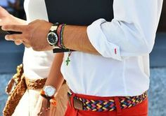 Colored Belts. Great for Summer. Bought several in Spain when I was there. #Men's style