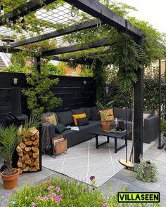 Back Garden Design, Small Backyard Design, Backyard Patio Designs, Small Backyard Landscaping, Backyard Pergola, Outdoor Pergola, Backyard Ideas, Outdoor Decor, Patio Ideas