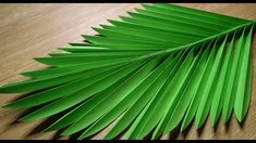 Crepe Paper Flowers Tutorial, Paper Flowers Craft, Giant Paper Flowers, Leaf Crafts Kids, Coconut Leaves, Hawaiian Party Decorations, Paper Plants, Paper Leaves, Flower Making