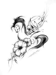my favorite <3 Horse Tattoo Design, Tattoo Designs, Tattoo Horse, Tatoo Art, Tattoo You, Future Tattoos, New Tattoos, Tatoos, Sister Tattoos