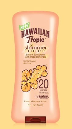 This sunscreen gives you a golden glow and it smells good! :)