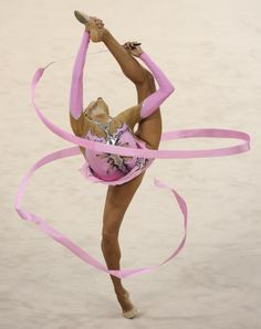 Competitors in individual all-around final of rhythmic gymnastics
