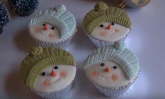 Cupcake pupazzo di neve – Ricetta e Video Tutorial