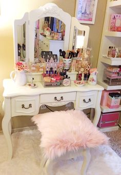 My French Provençal style Vanity! Loaded with a girl's must haves!