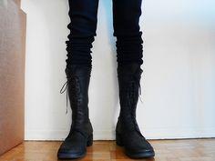 Guidi elk leather combat boots