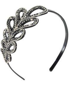Vintage Hollywood Leaf Headband