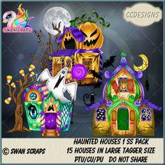 Haunted Houses 1 SS Pack (TS/CU/S4H) [CCD] : Scrap and Tubes Store, Digital Scrapbooking Supplies Scrapbook Supplies, Digital Image, Creative Design, Digital Scrapbooking, Craft Projects, Haunted Houses, Packing, Ss, Artist