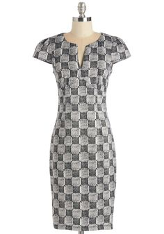 1960s Fashion - Standby for Cross-Check Dress
