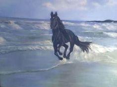 Corcel negro pintura de Edna Badu