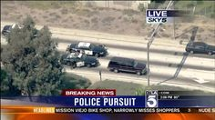 California High Speed Police Chase Bank Robber In Chevrolet Suburban Thr...