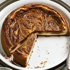 Caramel-Peanut Butter Swirl Cheesecake From Better Homes and Gardens, ideas and improvement projects for your home and garden plus recipes and entertaining ideas.