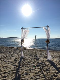 Beach wedding arch decoration ideas with beautiful bamboo arch beach wedding arch decoration ideas with beautiful bamboo arch wedding ceremony with vases each hemed wedding ideas pinterest wedding cheap wedding junglespirit Choice Image