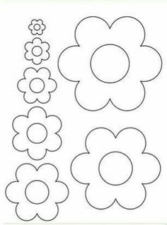 flowers - flowers Best Picture For crafts for teenagers For Your Taste You are looking for something, and i - Felt Flowers Patterns, Felt Crafts Patterns, Applique Patterns, Felt Flower Template, Felt Flower Tutorial, Flower Crafts, Diy Flowers, Paper Flowers, Felt Hearts