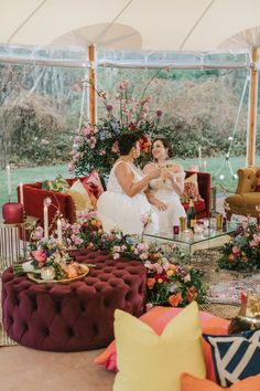 Love bold and playful details? This styled shoot is filled with bright wedding color ideas to inspire anyone. Bright Wedding Colors, Elegant Bride, Whimsical Wedding, Wedding Chairs, Ceremony Decorations, Flower Centerpieces, Wedding Receptions, Reception Ideas, Wedding Styles