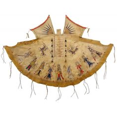 "made by Jim Little Wounded ,American Indian Painted Deer Hide ""Mini"" Tipi Cover: Victory Dance"
