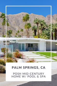 This 4BR/3BA vacation rental with a lavish pool, spa, and outdoor bbq area in coveted Vista Las Palmas has everything you need for a luxury vacation. A block away, you'll find hiking trails -- including one that lets you hike to the Palm Springs Aerial Tram for truly incredible views of the desert. Or take a stroll around the neighborhood's winding streets -- restaurants and shops are only a few blocks away! Palm Springs Vacation Rentals, Bbq Area, Pool Spa, Mid Century House, Private Pool, Hiking Trails, The Neighbourhood, Restaurants, Shops