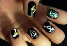 harry potter & the deathly hallow nails