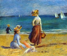 """Pierre-Auguste Renoir (1841-1919) """"Les chiffres sur la plage""""."""