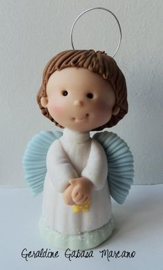 angel bebe porcelana fria polymer clay