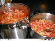 Lečo bez zavařování(na zimu) Czech Recipes, Russian Recipes, Ethnic Recipes, Kimchi, Vegetable Recipes, Preserves, Food To Make, Chili, Salsa