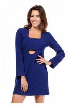 6f92b2deb0 BEWEAR BW028 sukienka chabrowa Piękna mini sukienka