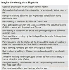 The demigods at Hogwarts