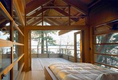Created by Vancouver-based architecture firm Osburn/Clarke, Joe's House is a small, tree fort retreat home – one of a group of buildings commissioned by the same client – located on an island off the south west coast of British Columbia, Canada.