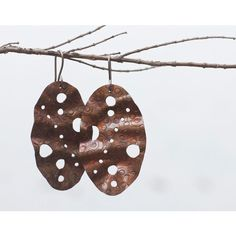 Copper earrings Mixed metal earrings Rustic copper earrings Big... ($19) ❤ liked on Polyvore featuring jewelry, earrings, dangle earrings, copper earrings, mixed metal jewellery, boho jewellery and earring jewelry