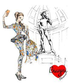 #Florence #David #fashion #illustration