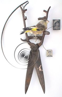 assemblage art by mike bennion - 'sweet sorrow'